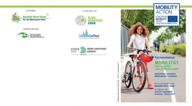Mobilität von Kindern und Jugendlichen am 15.9.2017