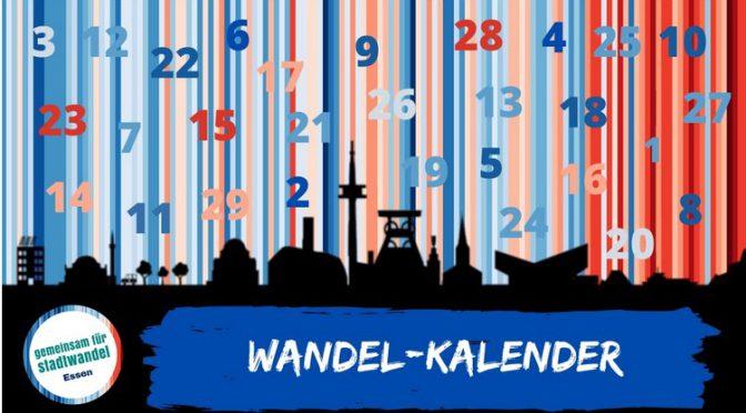 Wandel-Kalender 2020 Gemeinsam für Stadtwandel